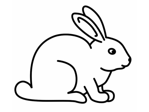 small resolution of black and white rabbit bunny clipart vector download