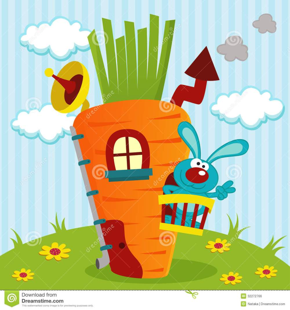 medium resolution of rabbit clipart home in house of carrots graphic royalty free stock