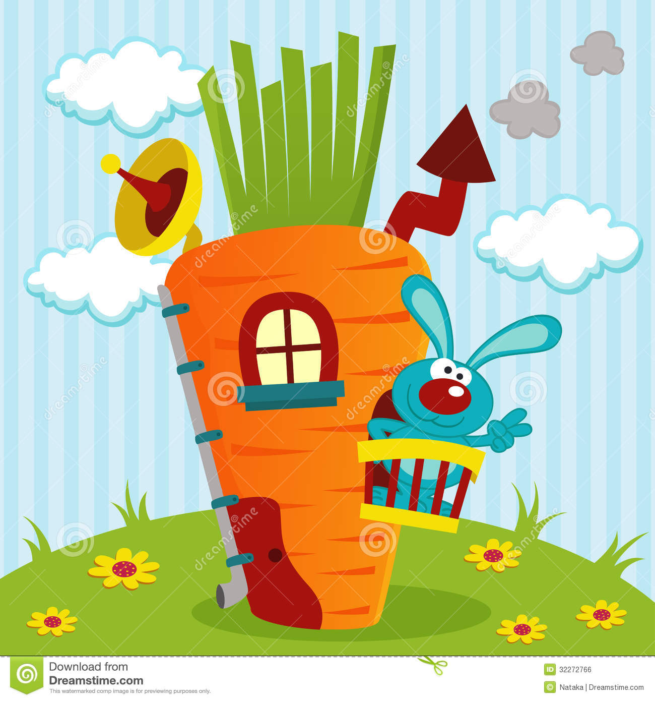 hight resolution of rabbit clipart home in house of carrots graphic royalty free stock