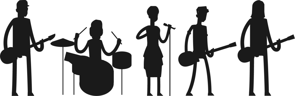 medium resolution of rock band silhouette png pop transparent images pluspng