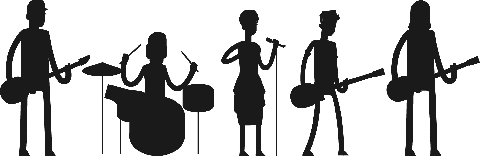 hight resolution of rock band silhouette png pop transparent images pluspng