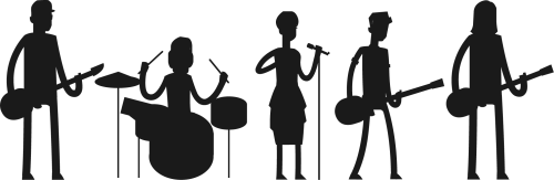 small resolution of rock band silhouette png pop transparent images pluspng