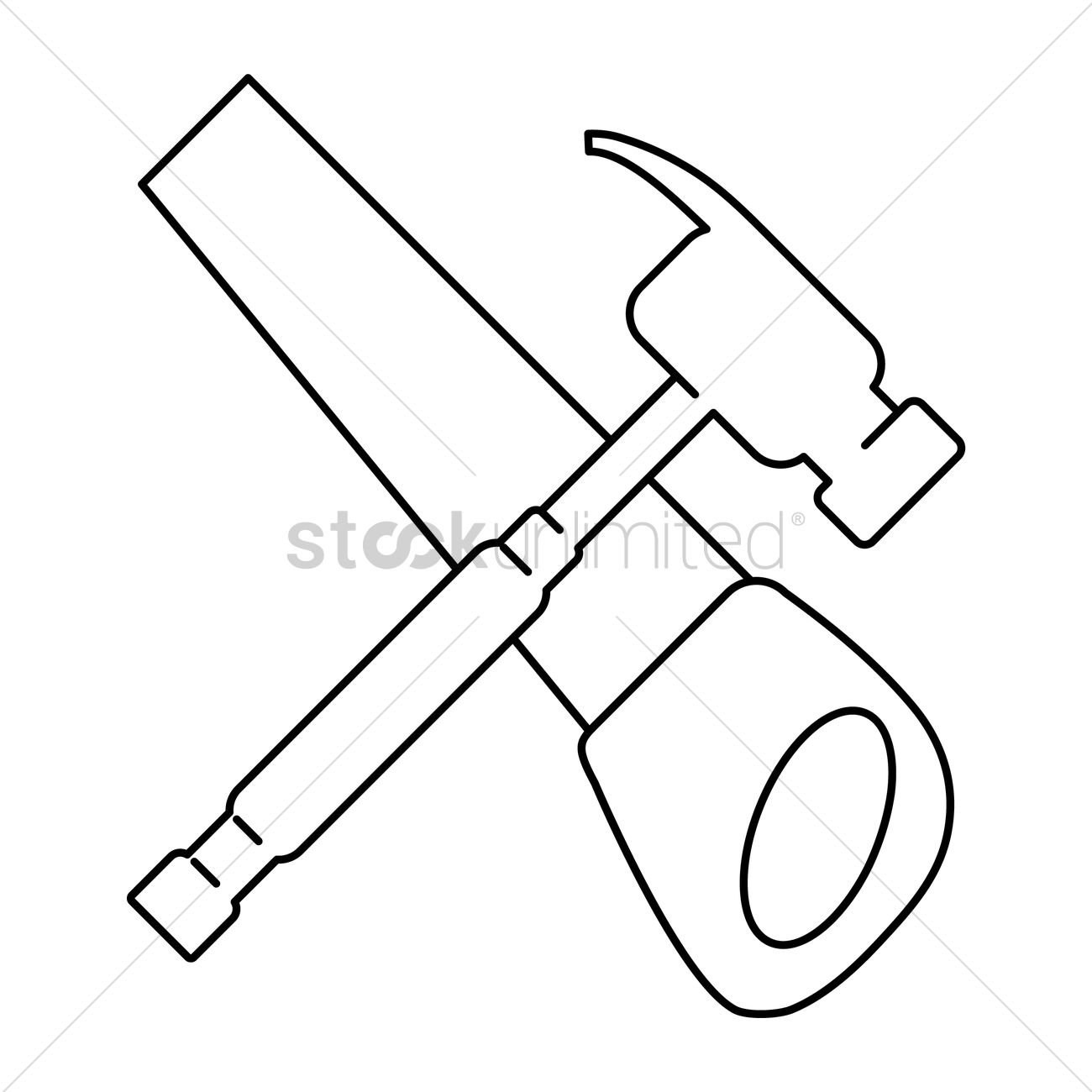 hight resolution of saw clipart crossed svg library download