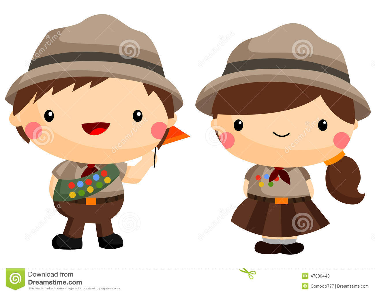 hight resolution of scout clipart illustration girl stock illustrations vectors svg freeuse