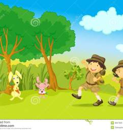 scout clipart nature walk boy and girl stock graphic royalty free download [ 1300 x 1008 Pixel ]