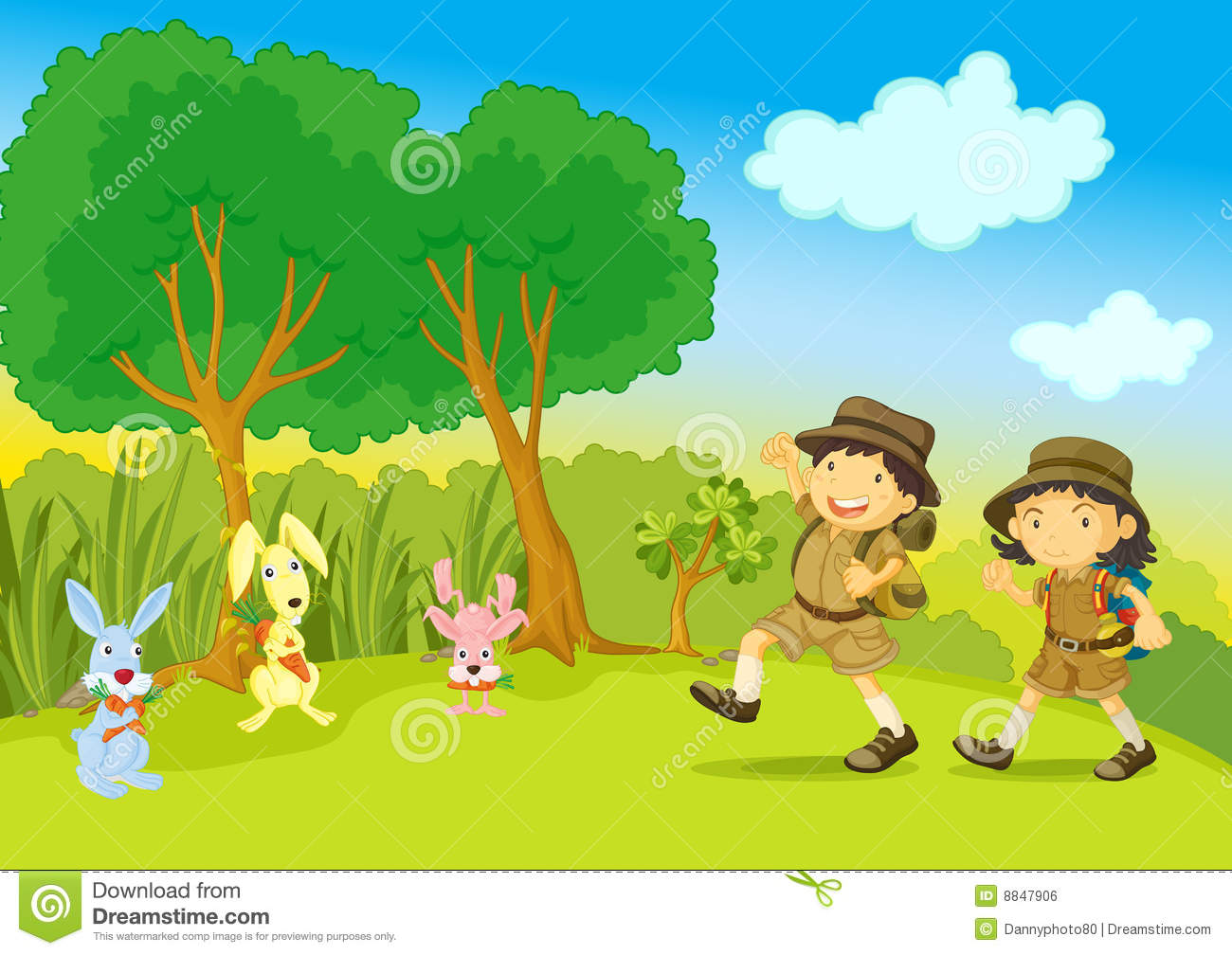 hight resolution of scout clipart nature walk boy and girl stock graphic royalty free download
