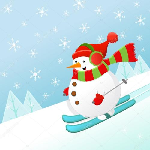 small resolution of ski clipart snowman skiing banner transparent