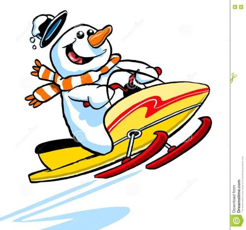 small resolution of snowmobile clipart snowman png black and white library