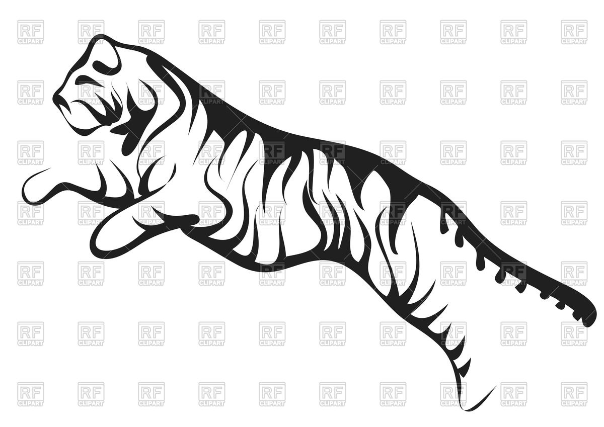 hight resolution of tiger clipart vector graphic transparent