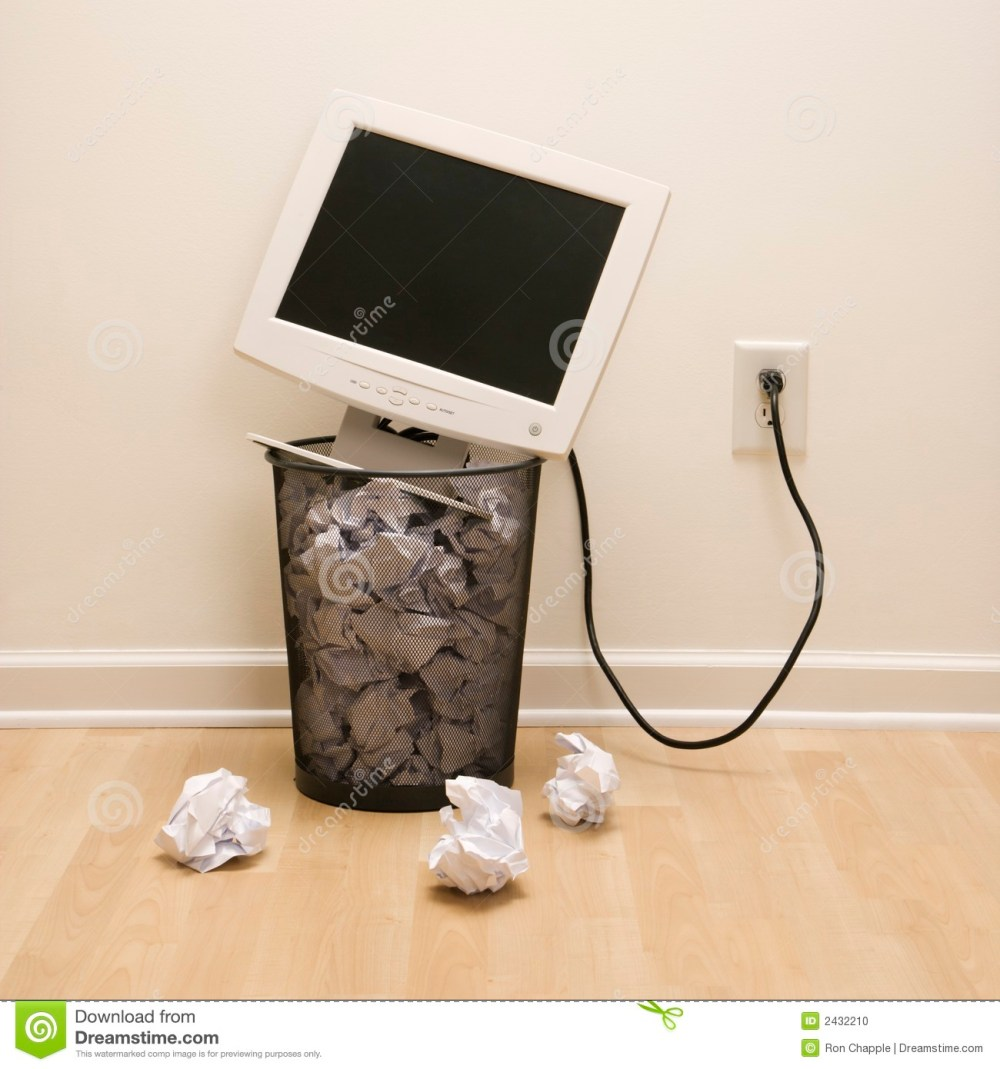 medium resolution of trash clipart monitor computer in can stock svg stock