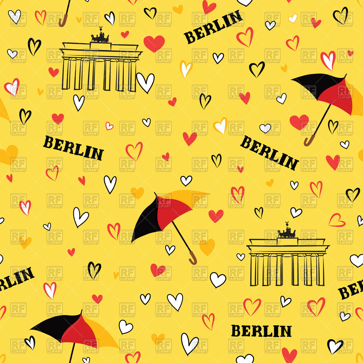 hight resolution of vacation clipart wallpaper travel berlin seamless pattern transparent download