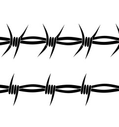 wild west clipart barbed wire barb fence clip art vector transparent [ 2629 x 1141 Pixel ]