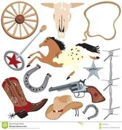 cowboy clip art elements wild west clipart western bbq banner royalty free download [ 1300 x 1390 Pixel ]