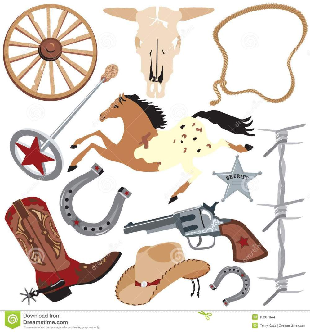 medium resolution of cowboy clip art elements wild west clipart western bbq banner royalty free download