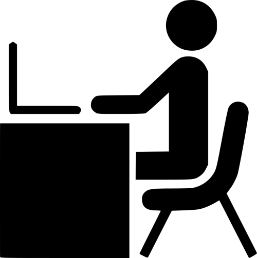 small resolution of person svg office