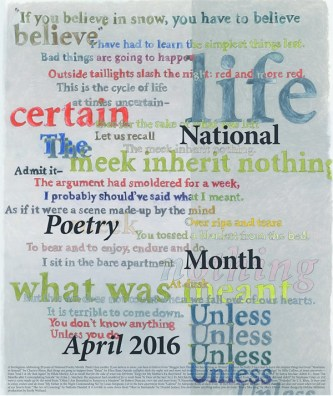 National Poetry Month Poster 2016