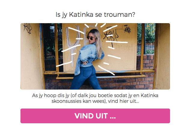 QUIZ: Is jou boetie Katinka se trouman (want skoonsussie goals)
