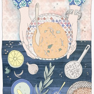 Shorabet Adas: Middle Eastern Lentil Soup Food Illustration & Recipe | By illustrator and artist Yaansoon | Illustrated Recipes, Cultural Food Illustration, Illustrated Middle Eastern Recipes, Middle Eastern Cuisine, Middle Eastern Food, Lebanese Food