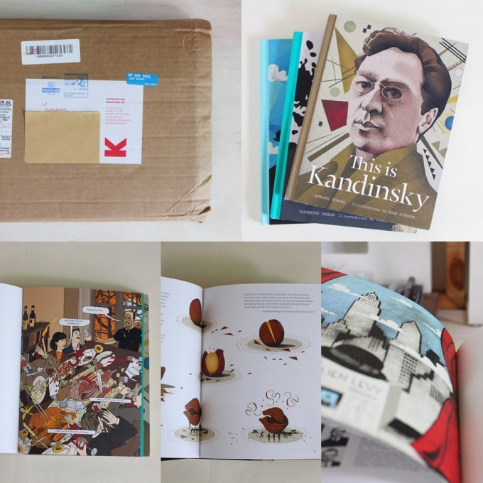Illustration Inspiration, by illustrator and artist Yaansoon, featuring creative discoveries and illustrated surprises from different cultures around the world | The books in this photo are a giveaway from Laurence King Publication that Yaansoon won on Twitter | Featured book: This is Kandinsky