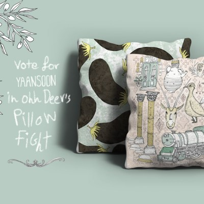 For a Limited Time: Vote For, Purchase a Yaansoon pillow on Ohh Deer