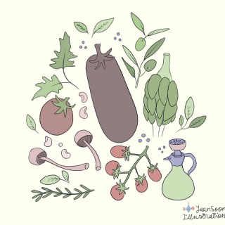 Digital Illustration Timelapse Video: Italian Food Ingredients | Yaansoon Illustration + Art