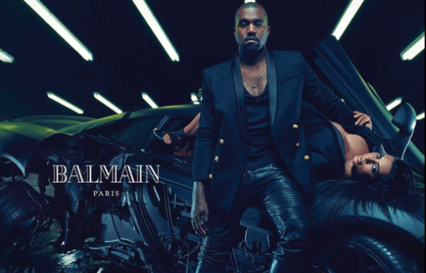 Kim Kanye West Balmain1