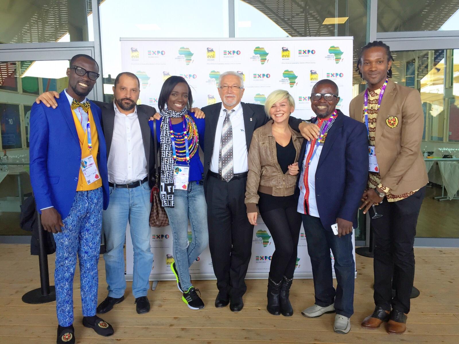 Photos of Ghanaian Fashion Designer Abrantie The Gentleman & Model Stephen Kojo Bonsu At The Milan Expo 2015