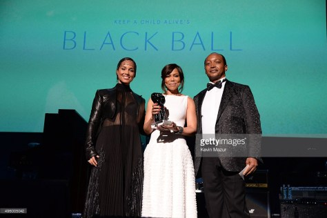 attends Keep A Child Alive's 12th Annual Black Ball at Hammerstein Ballroom on November 5, 2015 in New York City.