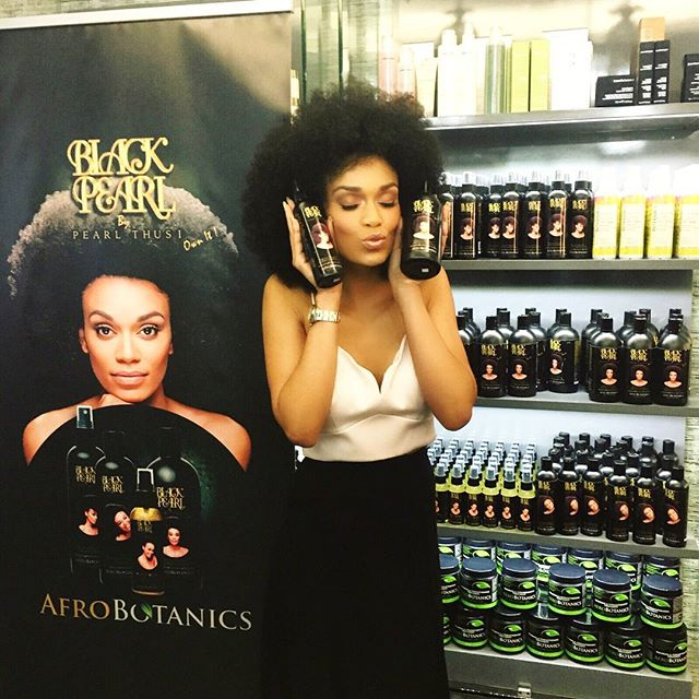 #BlackGirlsRock – South African TV Personality Pearl Thusi Launches Her Own Line Of Afrohair Care Products