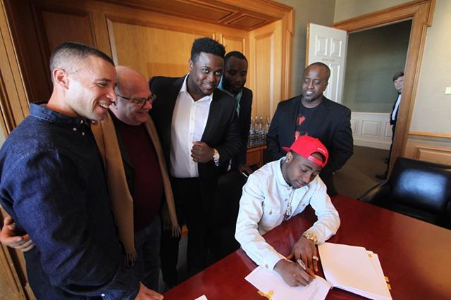 Watch What Went Down When Davido Signed To Sony Music