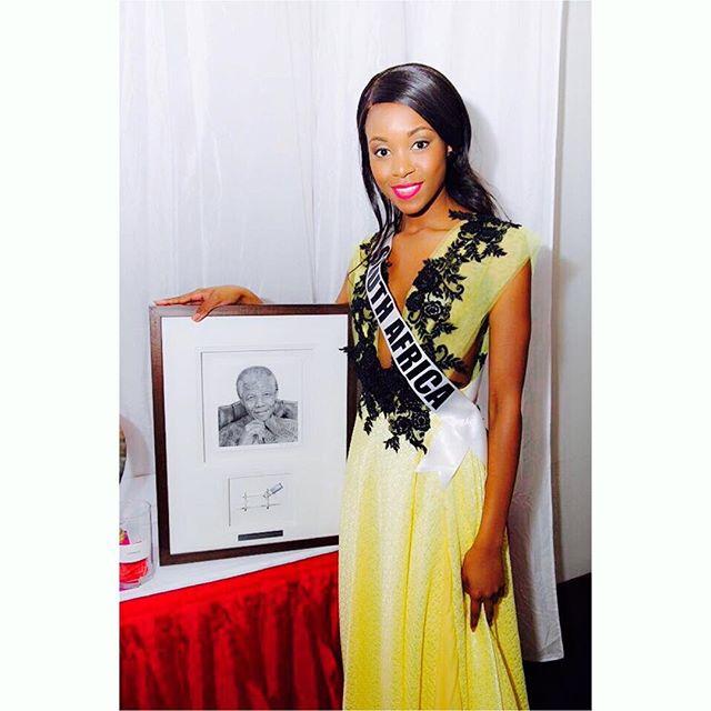 miss south africa. refilwe mthimunye
