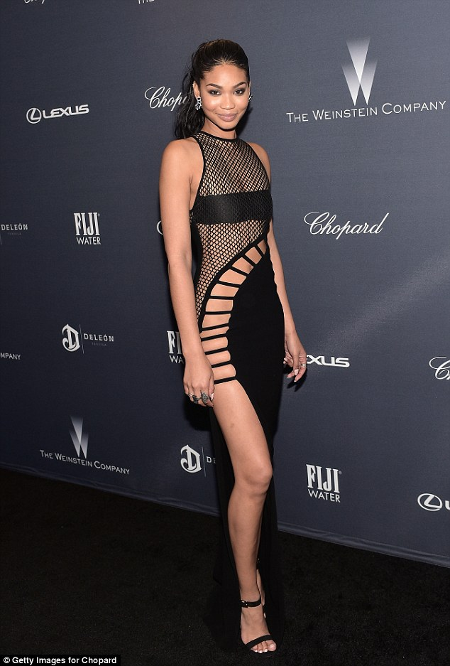 Weinstein-Company-Pre-Oscar-Dinner-Chanel-Iman death by dolls