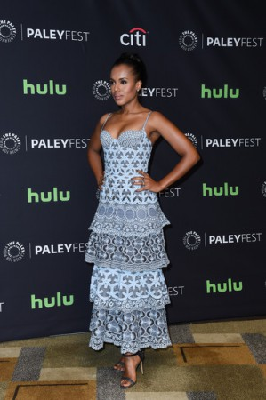 Kerry Washington Stuns In Ruffles As Scandal Cast Members Attend Paley Fest