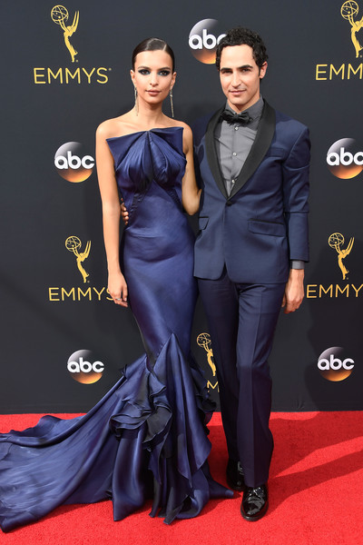 Actress Emily Ratajkowski and designer Zac Posen