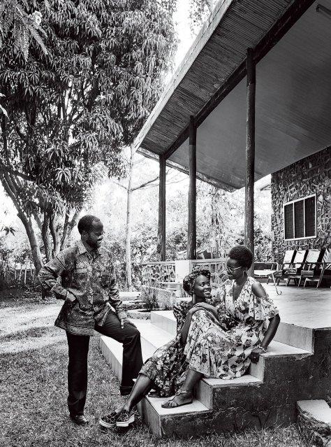 Lupita Nyong'o with father Senator Peter Anyang' Nyongo and mother Dorothy Nyong'o managing director of Africa Cancer Foundation