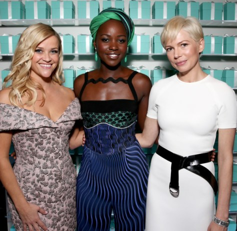 (L-R) Reese Whitherspoon, Lupita Nyongo and Michelle Williams