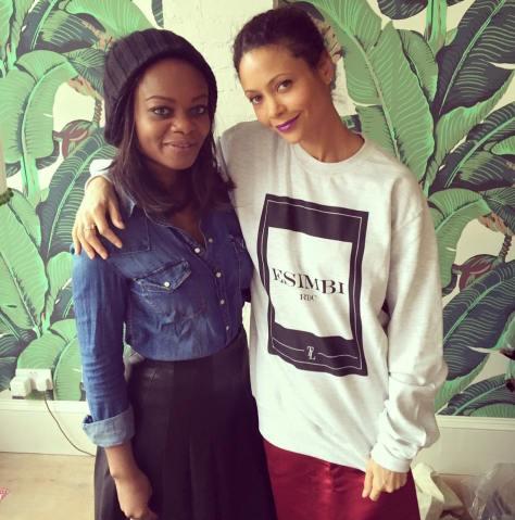 (L-R) Thandie Newtown & Tina Lobondi