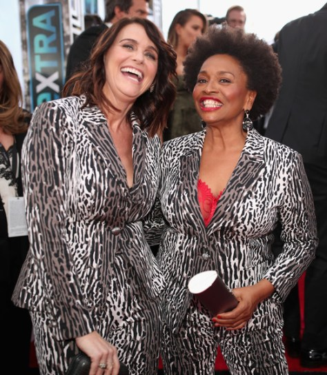 (L-R) Amy Landecker and Jenifer Lewis attend
