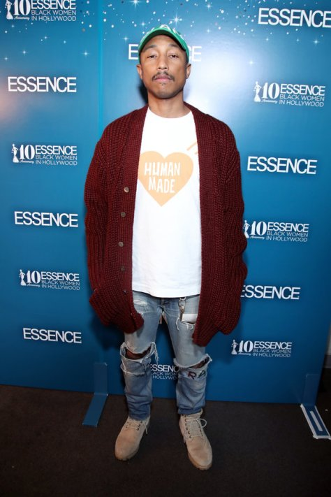 BEVERLY HILLS, CA - FEBRUARY 23: Pharrell Williams at Essence Black Women in Hollywood Awards at the Beverly Wilshire Four Seasons Hotel on February 23, 2017 in Beverly Hills, California. (Photo by Randy Shropshire/Getty Images for Essence)