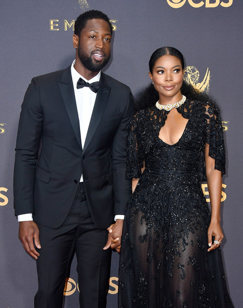 69th-Annual-Primetime-Emmy-Awards-Dwyane Wade-Gabrielle Union-emmys-2017