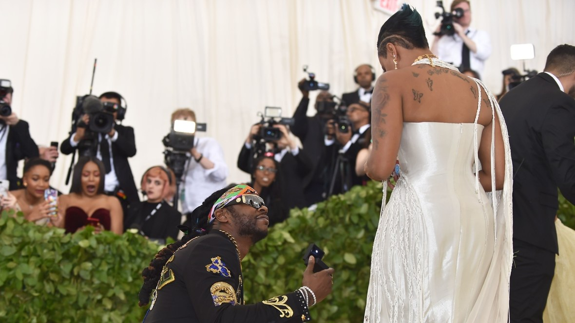 2 Chainz Proposes To Kesha Ward At The Met Gala 2018