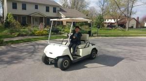 2002 Yamaha G19E 48 volt electric golf cart,NEW BATTERIES