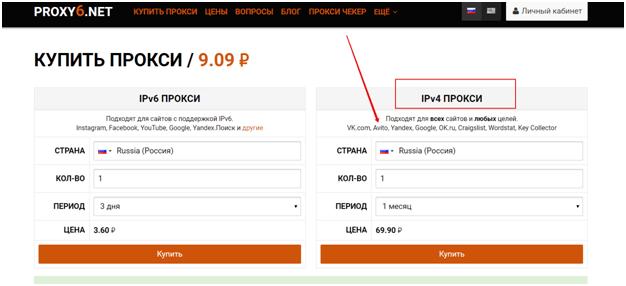 Прокси IPv4 - фото