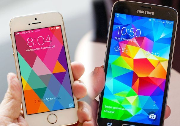 Samsung Galaxy S 5 مقابل iPhone 5S