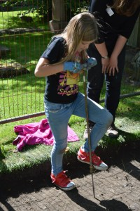 Probing for gravestones