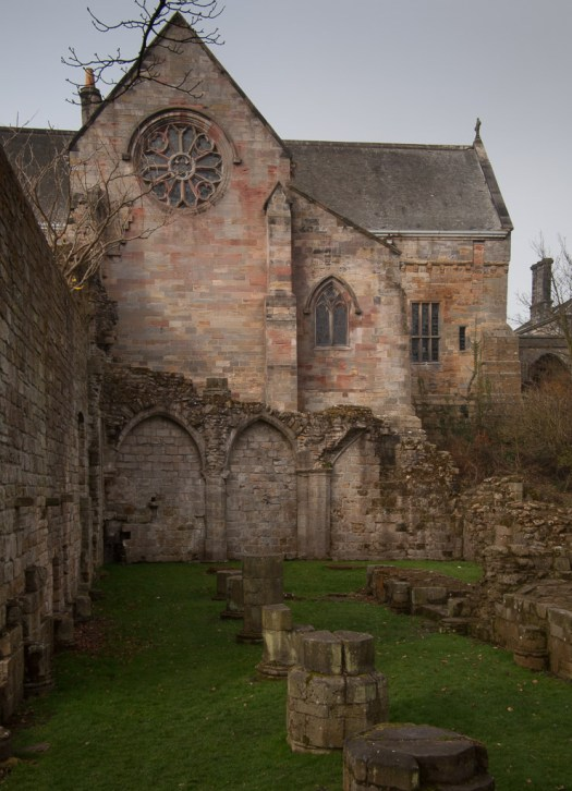 Culross Abbey Church and ruins of the monastery