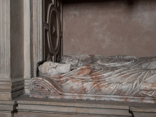 Close up of Sir George Bruce's Tomb
