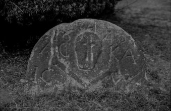 A reminder of mortality in West Kirk graveyard