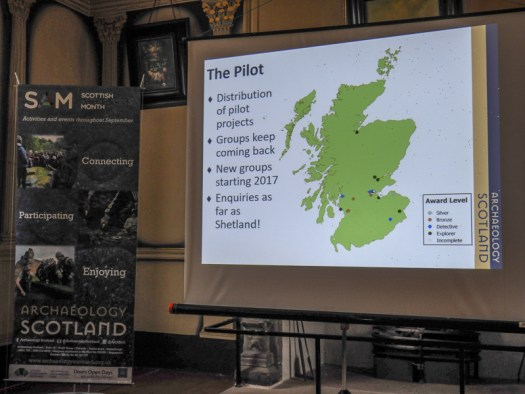 Slide showing the location of all the Heritage Hero Pilot Projects across Scotland