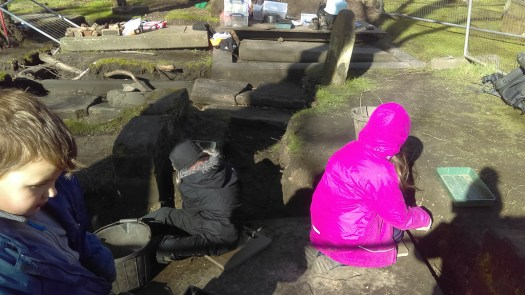 Excavating gravestones